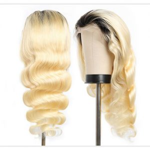 1b 613 full lace wig bodywave