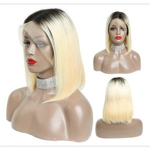 Dark Root Blonde 613 Bob Wig Straight