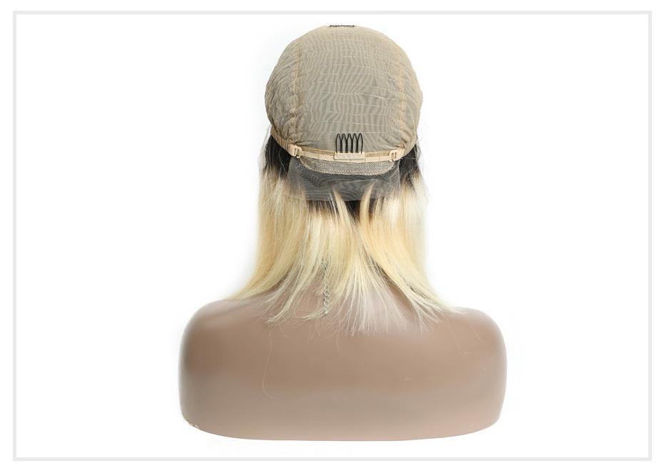 dark root 613 13x6 wig straight