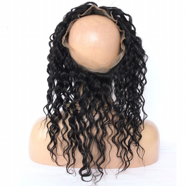 360 Lace Frontal deep wave Natural Remy Human Hair with Baby Hair