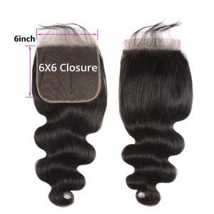 6x6 closure body wave