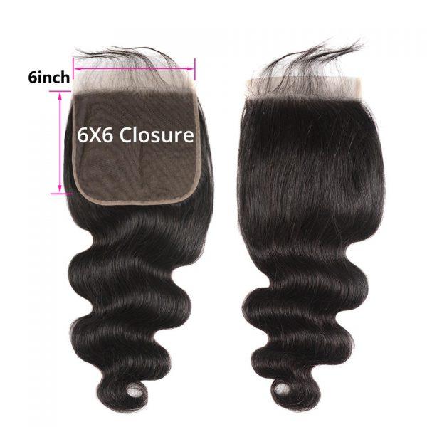 6x6 closure body wave