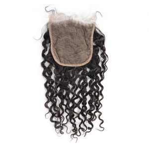 Best 6x6 Lace Closure Curly Human Hair Virgin Hair Free Part Closure With Baby Hair Natural Color