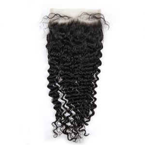MSGLAM Hot Selling 7x7 Transparent Curly Lace Closure With Baby Hair