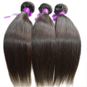 Cambodian Straight human hair Natural Color bundle deals