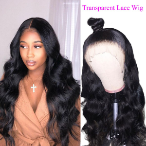 transparent lace wig bodywave