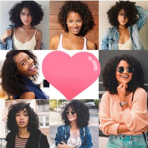 kinky curly closure wigs