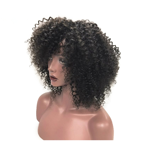 kinky curly closure wigs