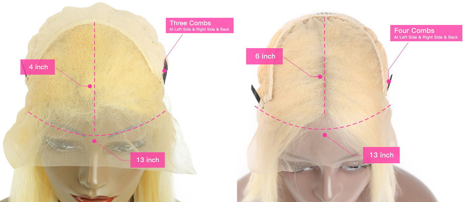 blond wig cap