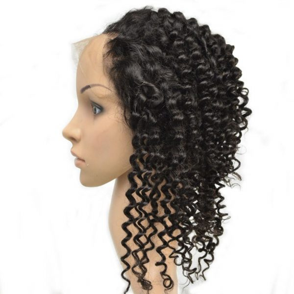 360 Lace Frontal Curly Natural Remy Human Hair with Baby Hair