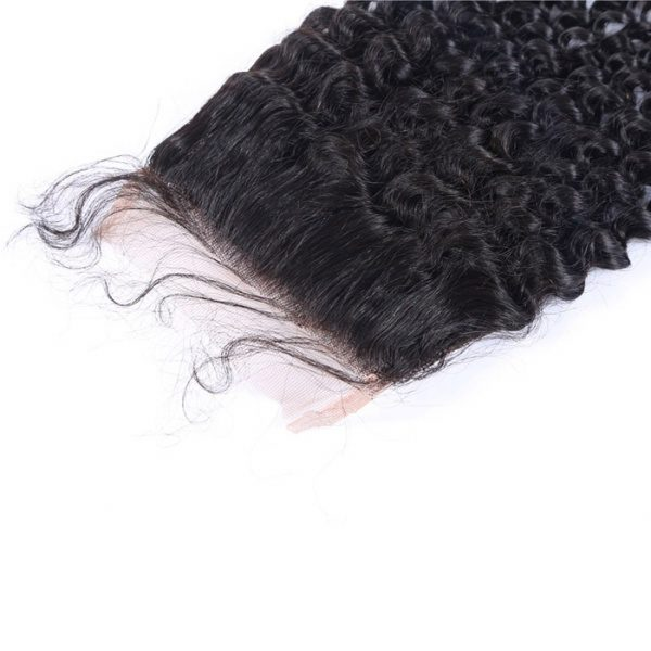 Lace closure 4x4 Curly Brazilian Mink Hair Natural Color