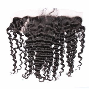 Lace Frontal Deep Wave Human Hair 13×4 Frontals High Definition Pre Plucked with Baby Hair Free Part