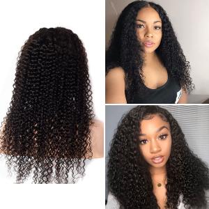 kinky culry lace wig