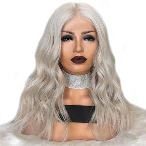 lace wig grey hai