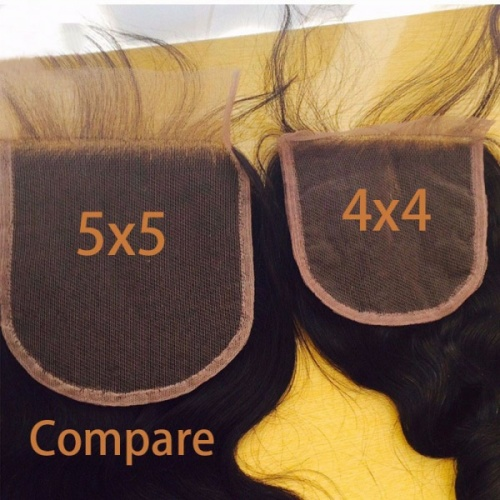 5x5 Loose Wave Lace Closure With Baby Hair Virgin Hair Natural Color