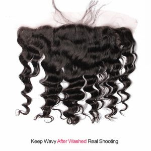 Lace Frontal Loose Wave Virgin Human Hair 13×4 Frontals with Baby Hair Free Part