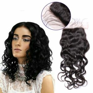 4x4 Brazilian Natural Wave Lace Closure With Baby Hair Brazilian Virgin Hair Natural Color