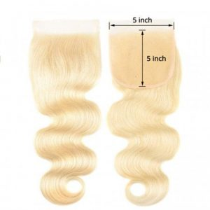 613 Blonde 5X5 Body Wave