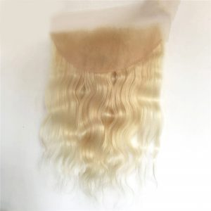 High Quality Wholesale 100% Human Hair Blonde 613# 13X6 Lace Frontal Body Wave