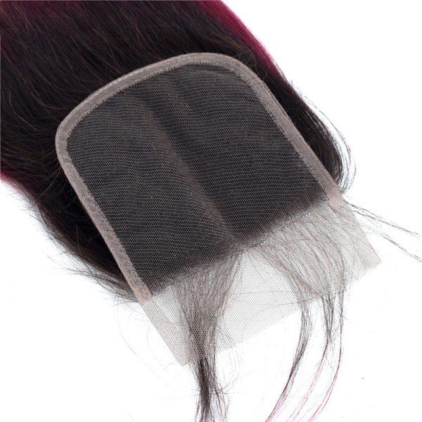 1b 99j bodywave hair with closure.