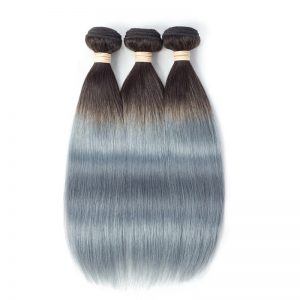 1b grey straight hair