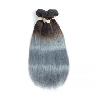 1b grey straight hair