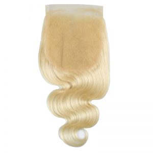 6x6 613 Blonde Lace Closure Body Wave Pre Plucked With Baby Hair 100% Human Remy Hair