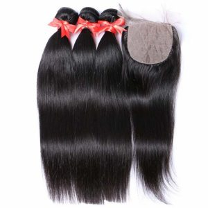 Premium Grade Human Hair With Silk Base Closure Deal straight