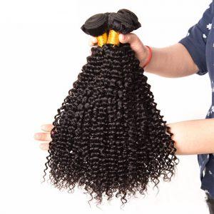 Standard Grade Shiny Natural Curly 1-2 Bundle Deals Virgin Hair
