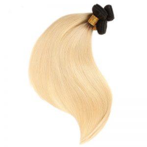 dark root with blonde straight hair