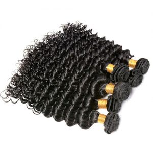 Bundle Deals 3-4 Pcs Deep Wave 100% Brazilian Virgin Hair Standard Grade