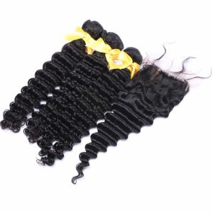 Free Part Deep Wave Silk Base Closure Virgin Hair
