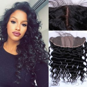 High Density Loose Wave Virgin Human Hair 13X4 Lace Closure Frontal 100% Unprocessed