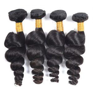 Bundle Deals 3-4 Pcs Loose Wave 100% Virgin Hair Full Head Standard Grade
