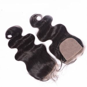 Top Quality Virgin Hair Body Wave Silk Base Closure