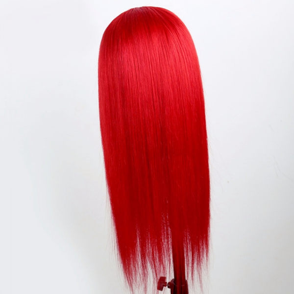straight red lace wigs