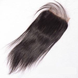 Super Double Drawn Wholesale Human Hair Straight Silk Base Closure