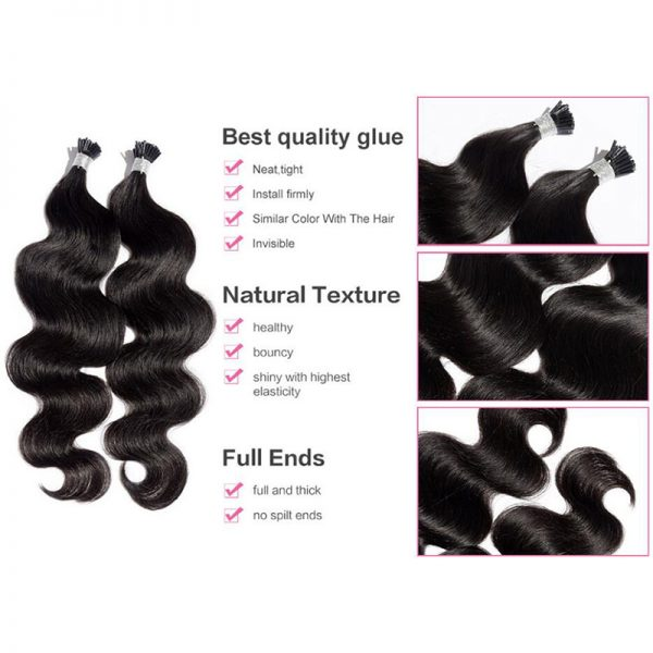 Body Wave I Tip Hair Extensions