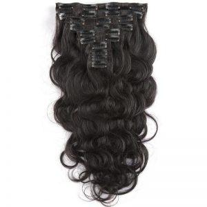 natural hair clip ins