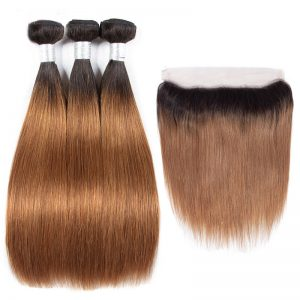 Ombre Color Bundles With Frontal